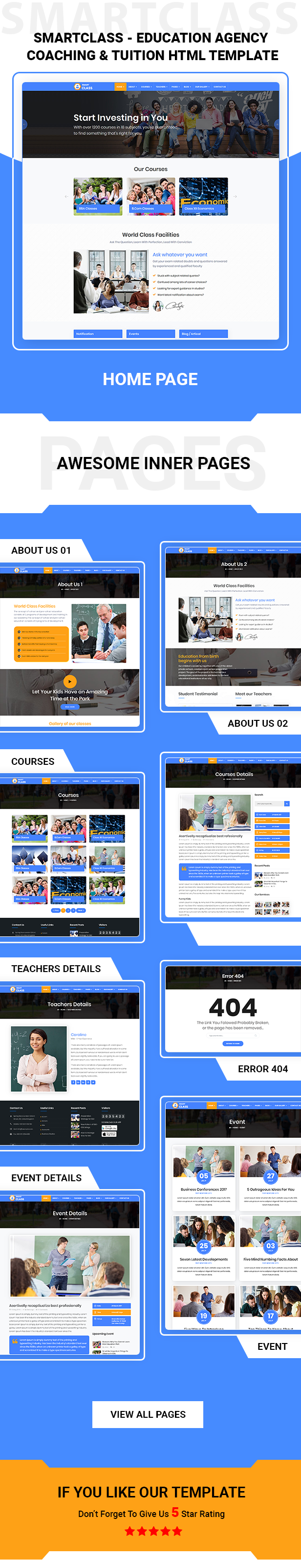 SmartClass | Education Agency Coaching & Tuition HTML Template - 3